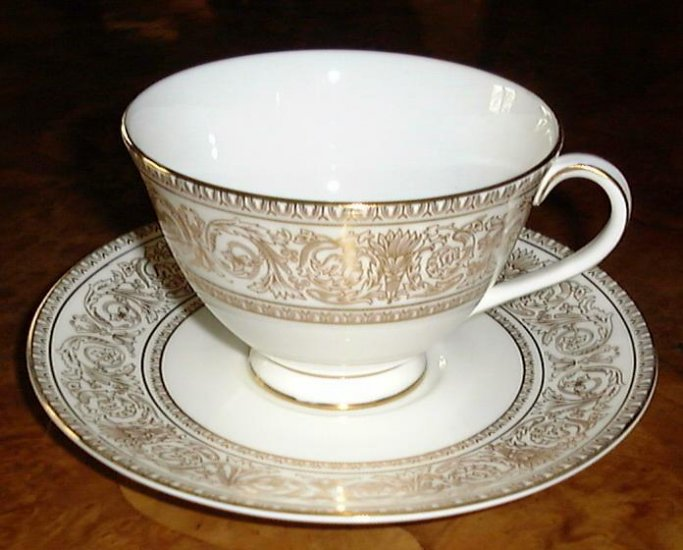 SOVEREIGN by Royal Doulton, Fine Porcelain CUP & SAUCER, England
