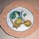 "Summer Fruit Porcelain 8"" Plate Vista Alegre Mottahedeh APPLE Portugal"