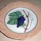 "Summer Fruit Porcelain 8"" Plate by Vista Alegre for Mottahedeh GRAPES Portugal"
