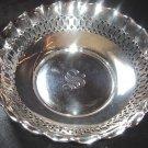 Gorham Sterling Silver Pierced BonBon Bowl S Monogram