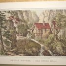 Currier & Ives Print PUZZLE PICTURE OLD SWISS MILL