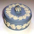 Handsome English Blue & White Wedgwood Jasperware Box England