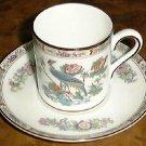 KUTANI CRANE 2 1/2 inch Demitasse Cup & Saucer Wedgwood Porcelain England