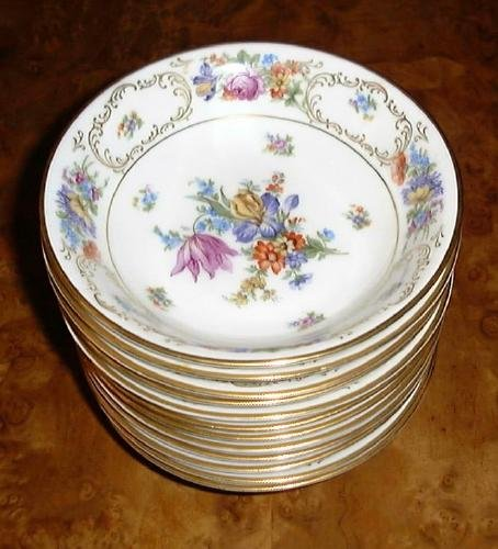 "PT Bavaria Tirschenreuth 6"" Cereal Berry or Dessert Bowl DRESDEN FLOWERS"