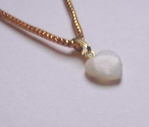 MOTHER OF PEARL HEART CHARM BABY PENDANT MOP DROP