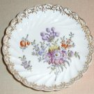 Beautiful hand painted Dresden floral pin tray, #2