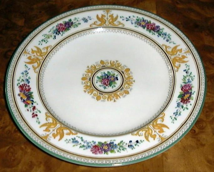Older COLUMBIA Enameled Wedgwood Salad Plate