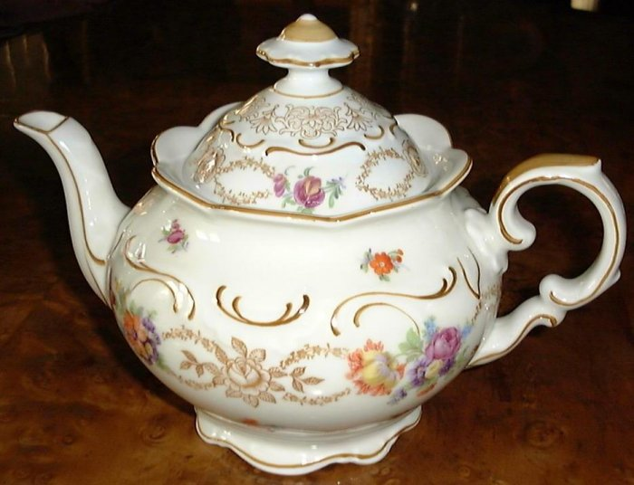 Dresden Flowers Teapot by Schumann Bavaria Germany