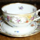 Cup & Saucer EMPRESS DRESDEN FLOWERS by Schumann Bavaria Germany