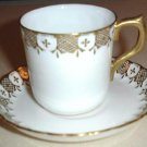 HERALDIC Royal Crown Derby English China Demitasse Cup & Saucer