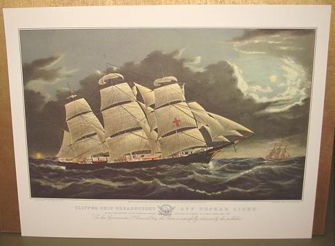 Currier & Ives Print Ocean CLIPPER SHIP DREADNOUGHT