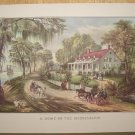 Currier & Ives Print HOME ON THE MISSISSIPPI River