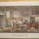 Currier & Ives Print TROTTING CRACKS AT HOME Horses