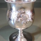 Victorian Homan Mfg Co Silverplate Goblet
