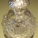 Wonderful Large Vintage Cut Glass Vanity Jar & Sterling Top