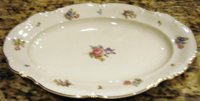 MAYFAIR Porcelain Medium Oval Serving Platter Hutschenreuther