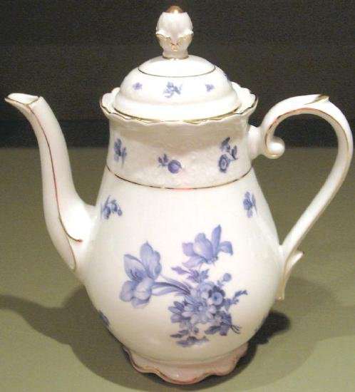 Germany Fine Porcelain Blue & White Teapot Schumann Arzberg