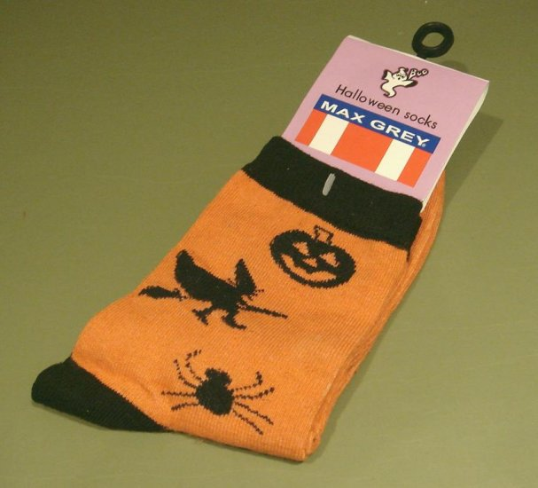Women's  9-11 HALLOWEEN SOCKS Witche Spiders Jack-o-lanterns