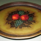 Shabby Chic Vintage Still Life Hand Painted Tole Serving or Display Tray