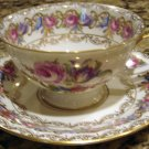Rosenthal VIENNA Footed Cup and Saucer Elaborate Flower Pattern