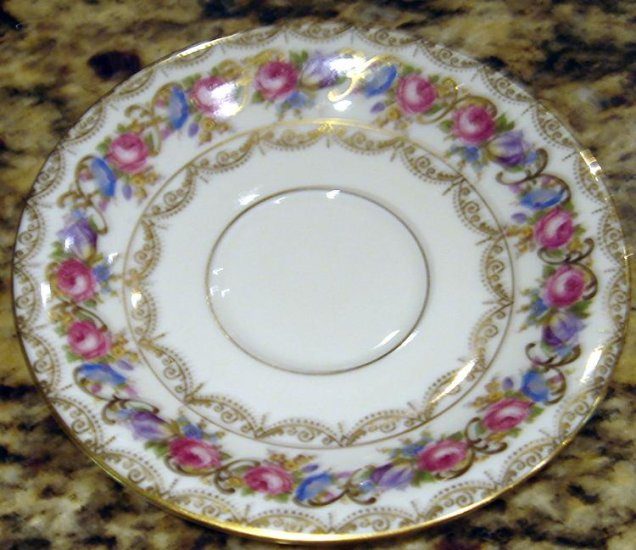ELABORATE FLOWERS & GOLD VIENNA by ROSENTHAL SAUCER