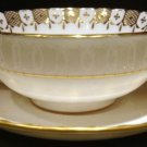 HERALDIC by Royal Crown Derby, English Bone China Cream Soup Cup & Saucer