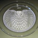 1971 Lalique Owl Plate w/ Box, Decorative Collectible