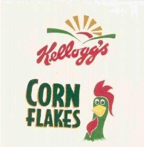 HAND PAINTED DECORATIVE FOOD LABEL CERAMIC TILE by TENNESSEE ARTIST, Kellog's corn flakes