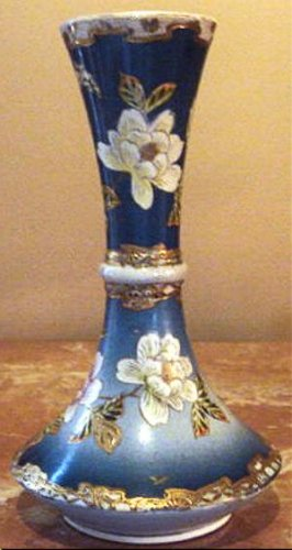 Outstanding Antique Oriental Pottery Vase, Hand Painted Floral