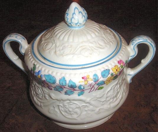 MORNING GLORY Wedgwood Patrician Sugar Bowl & Lid