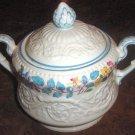 MORNING GLORY Wedgwood Patrician Sugar Bowl & Lid