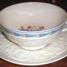 Cream Soup Cup & Saucer Set MORNING GLORY Wedgwood Patrician Pottery