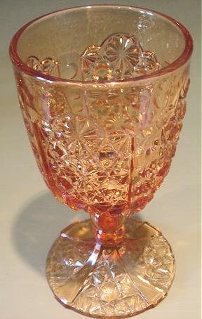 EAPG Daisy & Button and Thumbprint Panel Goblet ca 1886 Stem