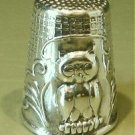 Thimble #9 Vintage Sterling Silver Figural Owl