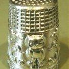 Thimble #10 Vintage Silver Figural Owl