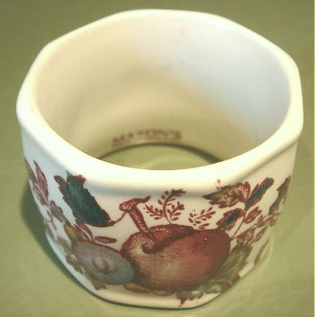 Vintage Mason's FRUIT BASKET Porcelain Napkin Ring