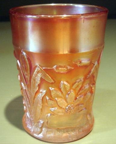 EAPG Tumbler Vintage Marigold Pattern Glass
