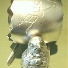 Antique Victorian Derby Silver Figural Napkin Ring Chick Egg Wishbone