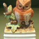 Royal Crown Ceramic Owl Music Box, Signed