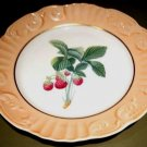 "Mottahedeh Summer Fruit STRAWBERRIES Porcelain 8"" Plate Portugal"