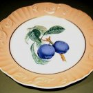 "Mottahedeh Summer Fruit PLUMS Porcelain 8"" Plate Portugal"