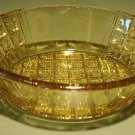 Rare Amber EAPG Oval Daisy & Flat Panel Dish 6 Available