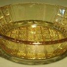 Rare Amber EAPG Oval Daisy & Flat Panel Dish 6 Available