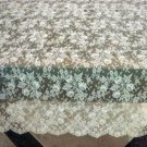 Vintage Ecru All Lace Tablecloth, Pieced Cloth #81