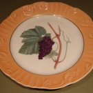 "RARE Summer Fruits GRAPES 10"" DINNER Plate Mottahedeh Portugal"