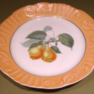 "RARE Summer Fruits PEARS 10"" DINNER Plate Mottahedeh Portugal"