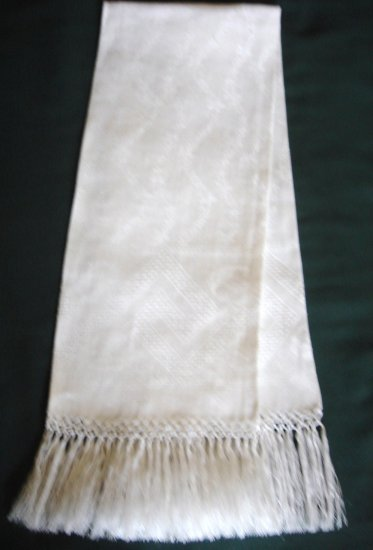 Wonderful Victorian Drawnwork & Macrame Fringed Towel