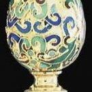 Cloisonne & Brass Lamp Accessory Oriental Style Finial