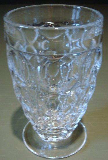 THUMBPRINT Juice Glass Jeannette Glass Co