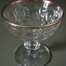THUMBPRINT Champagne Sherbet Gold Rim Jeannette Glass Co